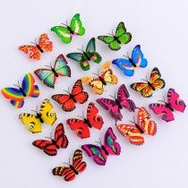Creatieve Kleurrijke Vlinder Kan Worden Geplakt Nachtlicht