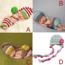 Schattige Stijl Hand Gebreid Baby Fotografie Kostuum
