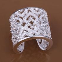 Mode Bergkristal Uitgesneden Ring