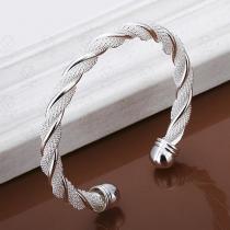 Mode Zilvertoon Gedraaid Armband