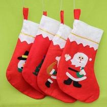 Leuke Kerstman Sneeuwpop Patroon Kerstsokken-Patroon Willekeurig