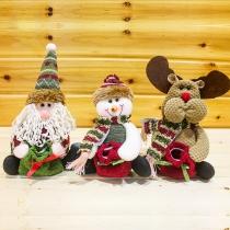 Schattige Kerstman / Sneeuwpop / Eland Kerstmis Snoepzak