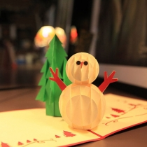 Leuke 3D Sneeuwpop Kerstmis