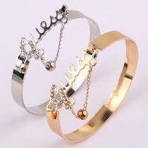 Mode Bergkristal Geëtste LIEFDE Armband