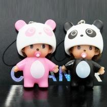 Leuke Monchichi Panda Ornament