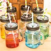 Modern Creatieve Kleurrijke Glazen Flessen Rietje