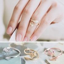 Modern Leuke Vosvormige Verstelbare Open Ring