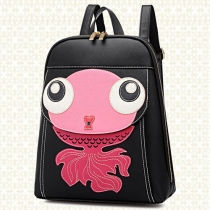 Cute Goldfish Pattern Casual Backpack School Bag