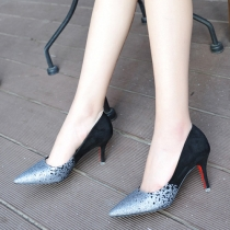 Fashion Pointed Toe Contrast Color Stiletto Wedding Shoes
