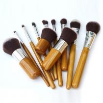 Professional Cosmetische Hulpmiddelen 11 Stuks Borstel Set met Stoffen Hoes