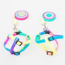 Kleurrijke regenboog Verstelbare Nylon Huisdieren harnas