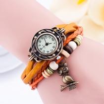 Vintage Uil hanger Gevlochten armband horloge