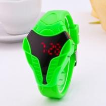 Meerkleuren Siliconenhorloge Met Slangenhoofd LED-Horloge