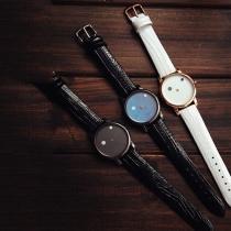 Mode PU Leer Horloge Band Rond Wijzer Paar Horloges