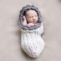 Schattig Hand Gebreid Baby Fotografie Rekwisiet Kostuum Slaapzak