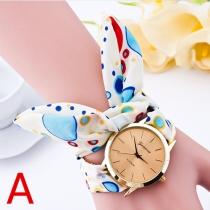 Mode Kinderlijk Stof Band Horloges Genève Dames Armband Pols Horloge