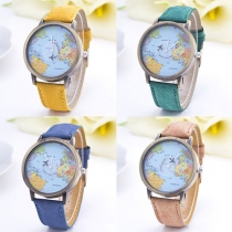 Mode Denim Armband Rond Wijzer Kwarts Horloges