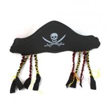 Uniek Stijl Piraat Hoed met Kralen Halloween Benodigdheden