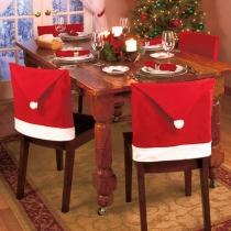 12 stuks Kerstmis Hoed Stoel Hoes voor Tafel Decoratie