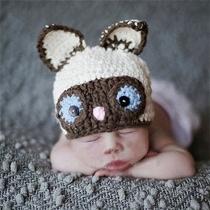 Schattig Groundhog Gevormd Handgeweven Fotografie Kostuum voor Kids