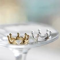 Mode Goud / Zilver-tooe Kroon Ring