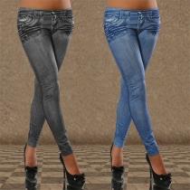 Mode Lage Taille Slanke Pasvorm Leggings
