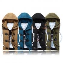 Mode Mouwloos Capuchon Stel Vest