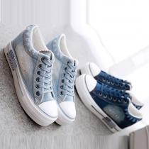 Mode Ronden Neuzen Platte Hakken Binnen Verhoogd Schoenen