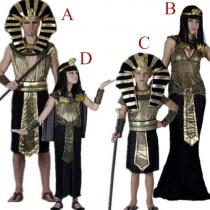 Creative Halloween Egyptische Farao Cleopatra Ouder-kind Kostuum