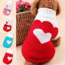 Leuke Stijl Aardbei / Hartvormige Rolkraag Sweater voor honden
