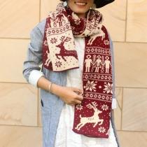Leuke Gebreide Sjaal met Hertpatroon
