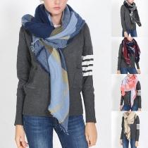 Moderne Sjaalsjaal Sjaal met Contrasterende Kleuren