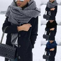 Modern Sjaal met Effen Kleur