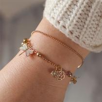 Modern Armband met Bloemen en Libellenhanger