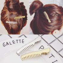 Chique Kamvormige Haarspeld 2 Stuks / Set