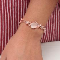 Modern Armband van Aluminium met Ingelegde Opaal