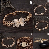 Modern Armband met Ingelegd Strass en Opaal