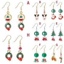 Leuke Oorbellen in de vorm van Kerstman / Kerstboom / Klokjes
