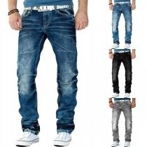 Modern Rechte Jeans met Middelhoge taille