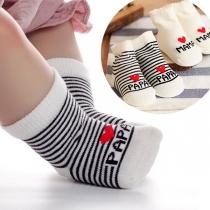 Leuk Bedrukte Ademende Babysokken met Hartmotief 2 Paar/Set