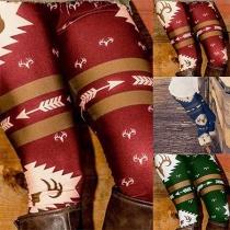 Hippe Rekbare Legging met Hoge Taille