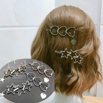 Moderne Haarspeld van Aluminium met Hart / Stervorm