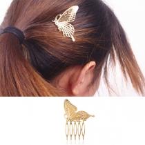 Moderne Haarspeld van Aluminium in Vlindervorm