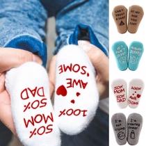 Modern Bedrukte Antislipsokken voor Baby's 2 Paar/Set