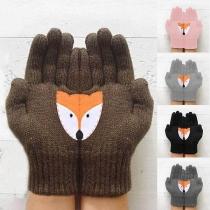 Leuke Gebreide Handschoenen met Vosmotief