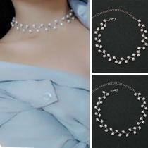 Moderne Halsketting met Kunstparels