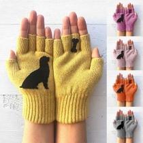 Leuke Gebreide Handschoenen met Cartoon Puppymotief