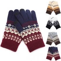 Modern Gebreide Handschoenen met Chic Patroon