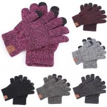 Modern Gebreide Handschoenen in Gemengde Kleuren