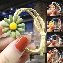 Leuk Elastisch Haarbandset voor Kinderen met Madeliefje 4 item / set